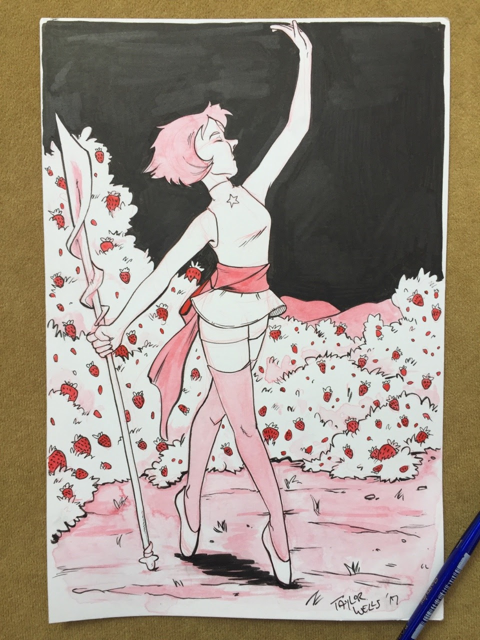 Inktober Day 11 - Pearl from Steven Universe I had to put Inktober on hold for a few days, but I'm back at it! I'm actually tabling at Fifo Con in Baton Rouge this weekend, so come check me out!