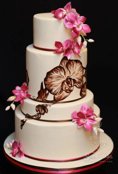 Orchid Wedding Cake Design ? Best Cake Blog