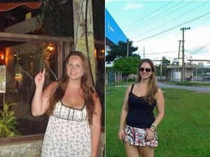 Luana perdeu 20 kg com incentivo da mãe (Foto: Arquivo pessoal)