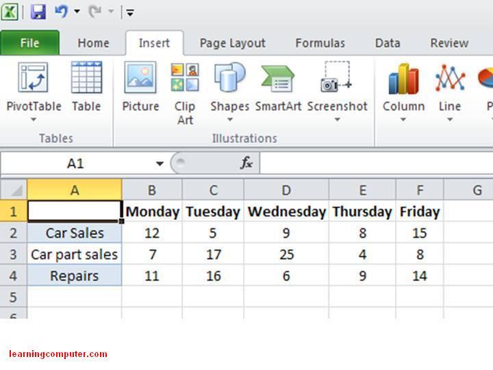 Excel 2010 - How to enter Sparkline data
