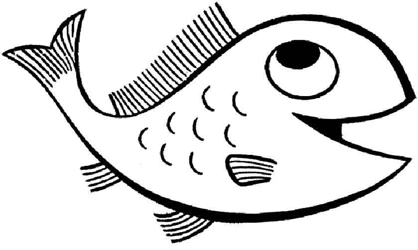 ausmalbilder zum ausmalen fische  malvorlagen