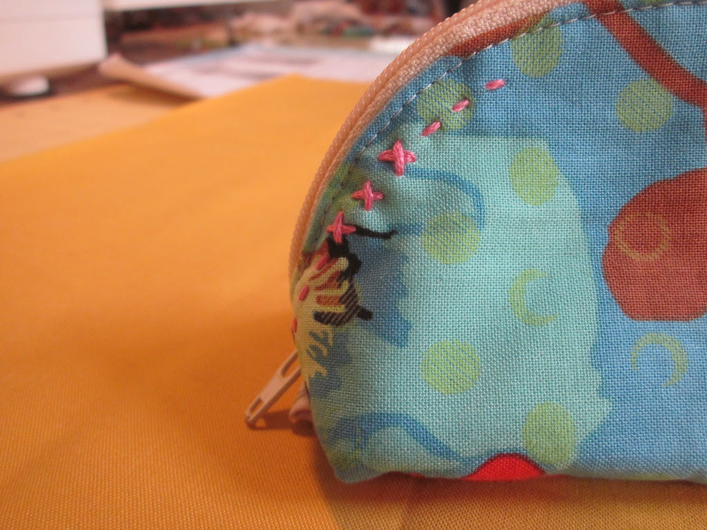 just a little hand stitching