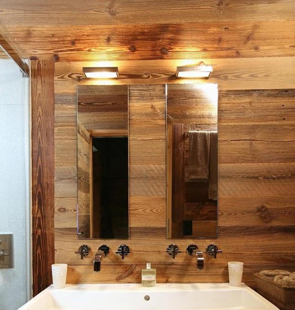 Boiserie c legno naturale per un bagno - Metodo naturale per andare in bagno ...