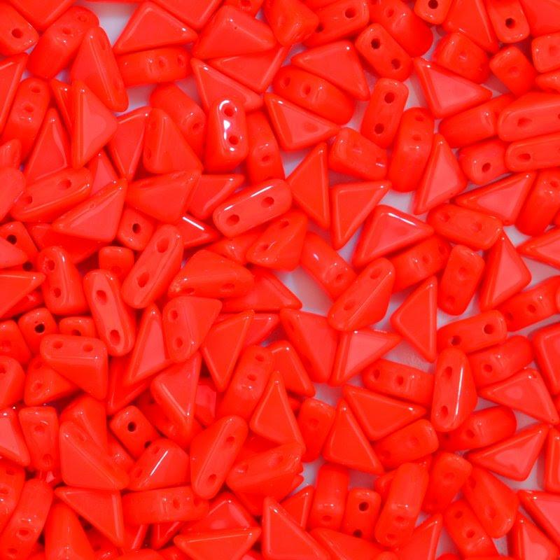 27888100-04 Shaped Beads - 2 hole Tango - Coral