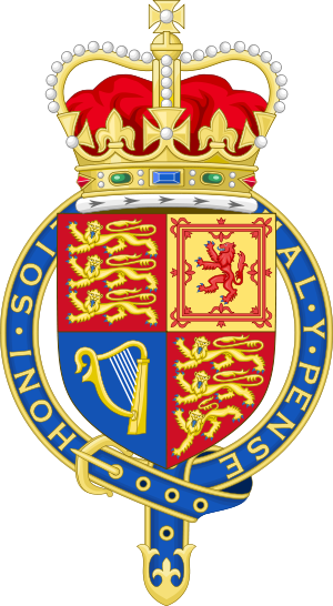 Arms of the United Kingdom with Crown and Garter