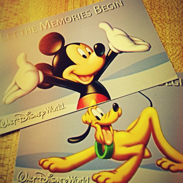 Our Disney World Tickets! YAY! // Sept 2012