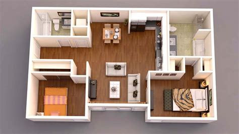 floor plan top view home apartement konsep