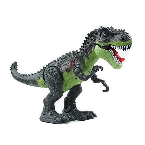 Yier 電動モバイルビッグティラノサウルスおもちゃグリーン恐竜 誕生日の