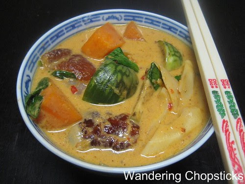 Thai Red Curry with Roast Duck, Bamboo Shoots, Eggplant, and Pumpkin 1