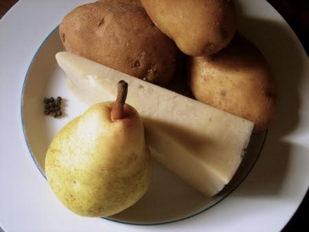 pear pecorino potato soup