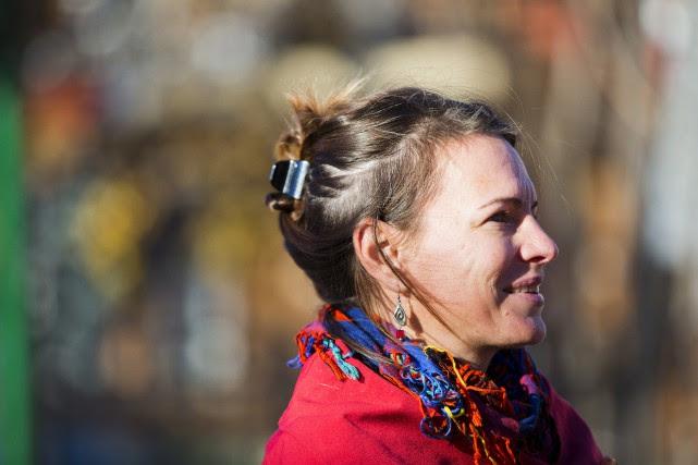Marie-Ève Rancourt, candidate du Québec solidaire dansSaint-Henri-Sainte-Anne.... (PHOTO OLIVIER JEAN, LA PRESSE)