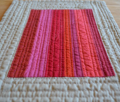 Crimson - a Red inspired mini quilt
