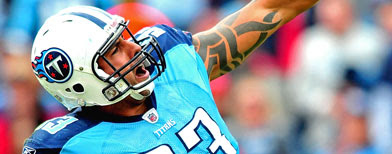 Jason Babin #93 of the Tennessee Titans. (Photo by Grant Halverson/Getty Images)