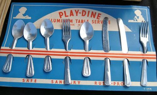 aluminum play cutlery