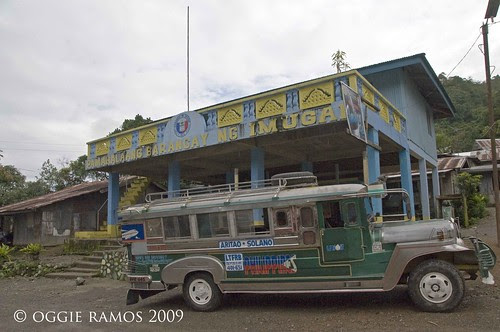 Nueva Vizcaya Jeepney in front of the Imugan Barangay Hall