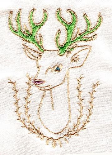 forest friends deer multi colour