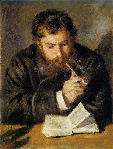 Claude Monet (The Reader) - Pierre-Auguste Renoir