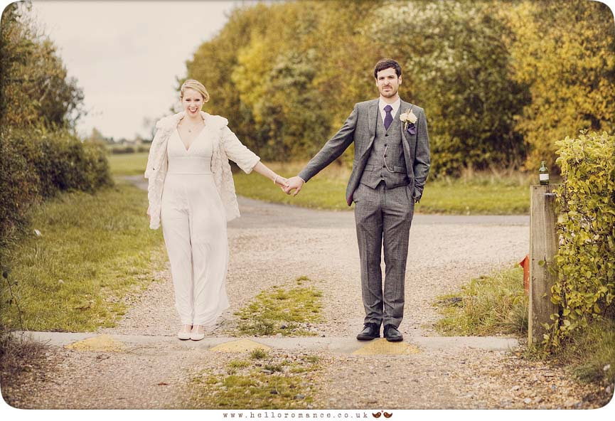 Bride and Groom holding Hands Vintage - Hello Romance