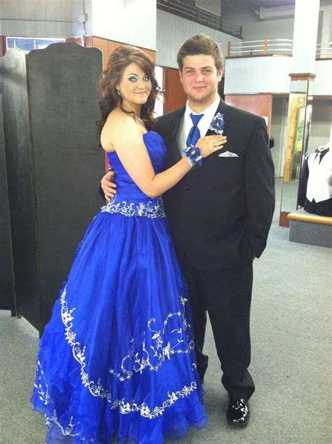 royal blue quince prom dress  matching tux