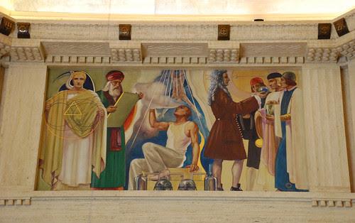 Griffith Observatory - 'Mathematics and Physics', a Hugo Ballin Mural