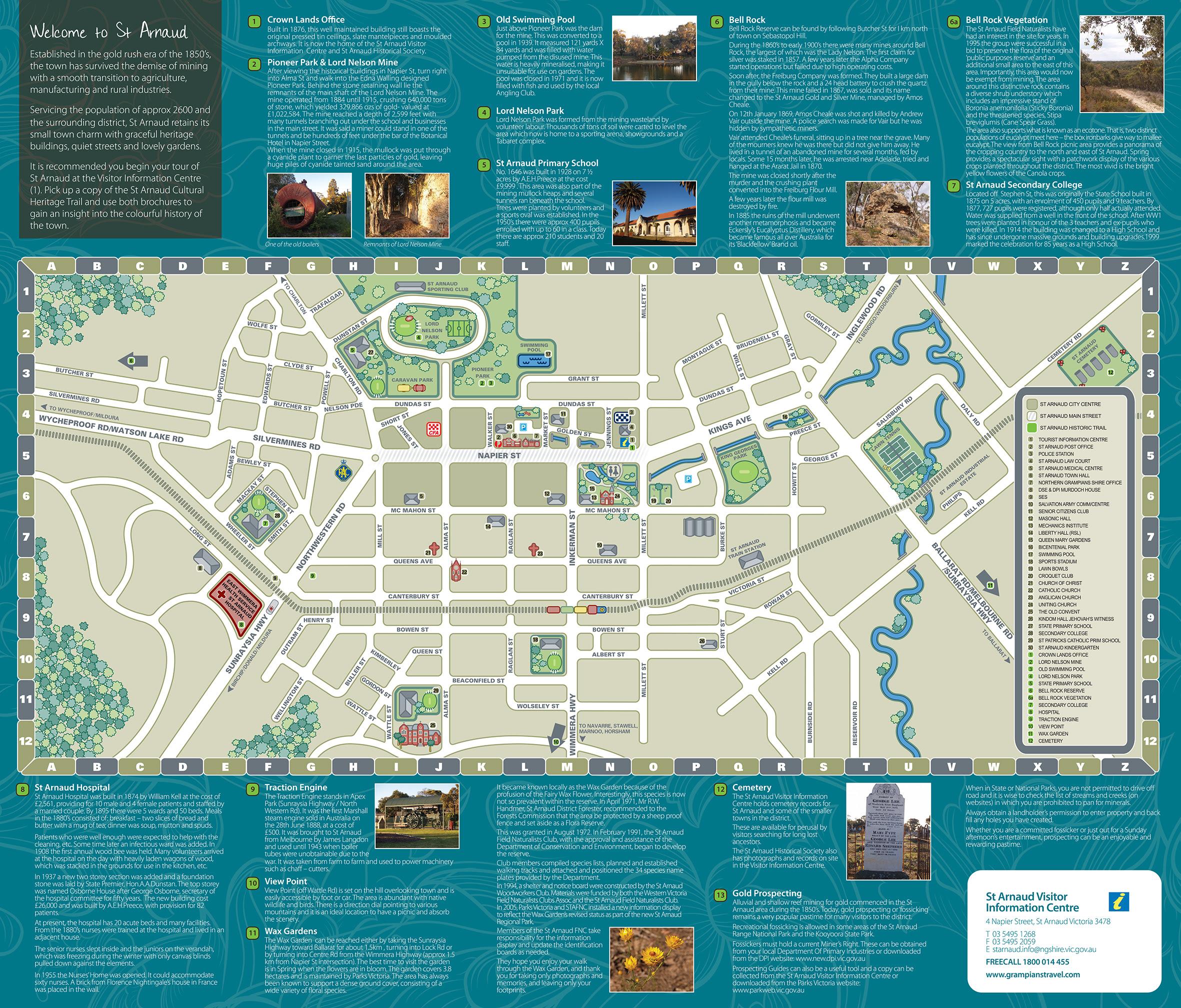 St Arnaud Maps Location Travel Victoria Accommodation