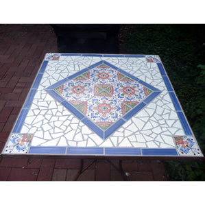 Tile Table with Spanish Tile