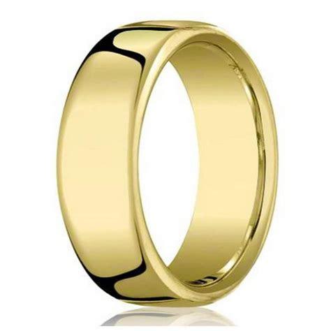 Men's Benchmark 18K Gold Wedding Ring, Polished   7.5mm Width