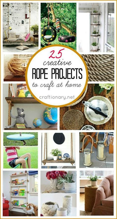 creative diy rope projects  craft  home craftionary