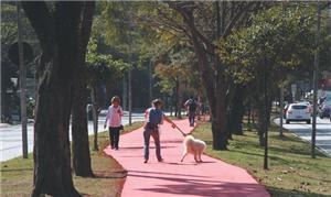 Ciclovia será compartilhada com pedestres |