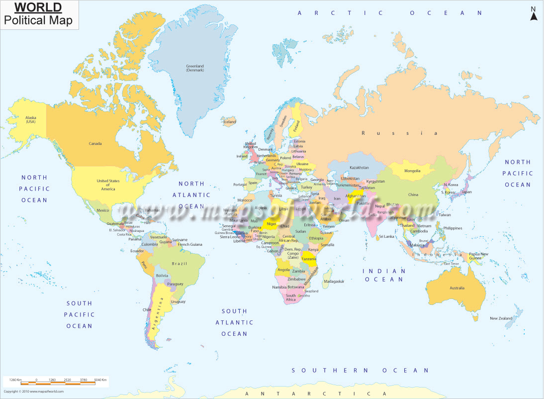 Printable World Map | B&W and Colored