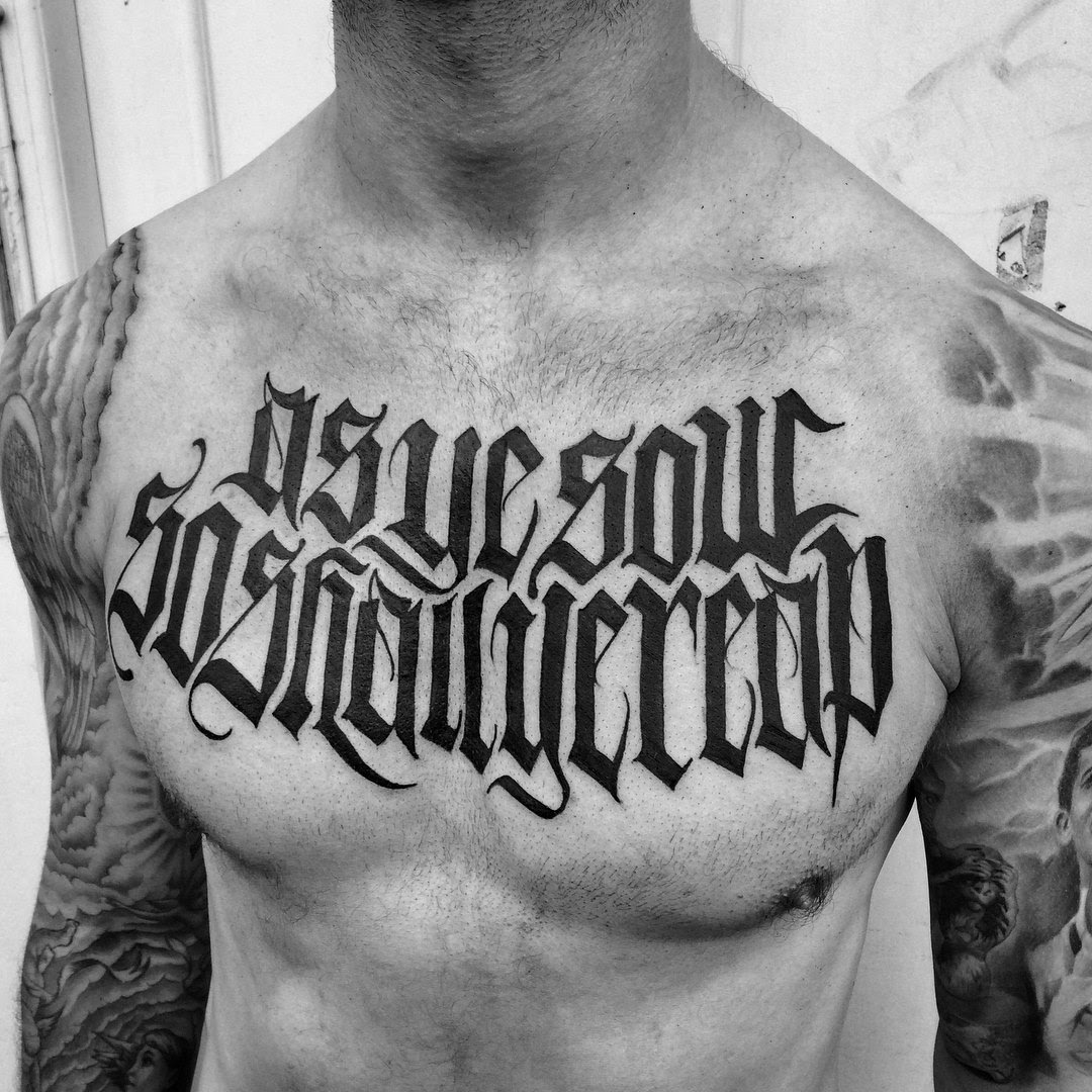 Portfolio Lettering Tattoos By Goorazz