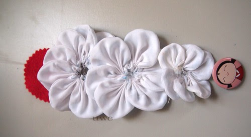 Fabric Flower Tutorial Step 10