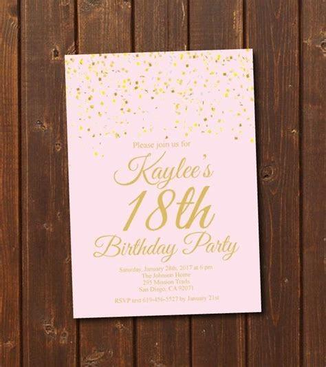 invitation template debut