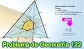 Problema de Geometría 122 (ESL): Teorema de Marion Walter, Triangulo, Cevianas, Trisección de los lados, Hexágono, Área.