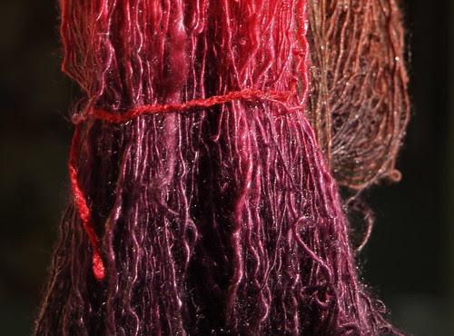 Handspun/dyed merino/tencel