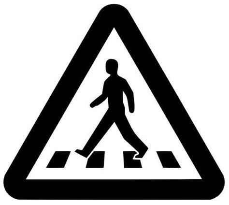 Pedestrian Crossing Sign dxf File Free Download   3axis.co