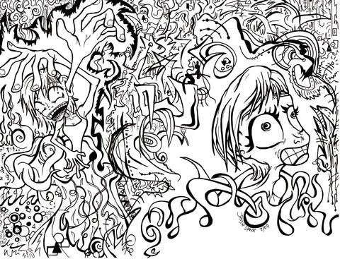 Disegno Di Doodle Sentimenti Dansia Da Colorare Disegni Da