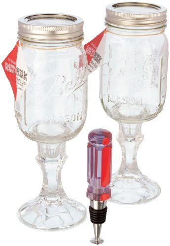 Carson Home Accents 3-Piece Original Rednek Gift Set, Includes 2 Rednek Wine Glasses and Screwdriver Wine Stopper