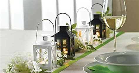 Mini Lanterns #wedding #reception #guestfavors #tabledecor
