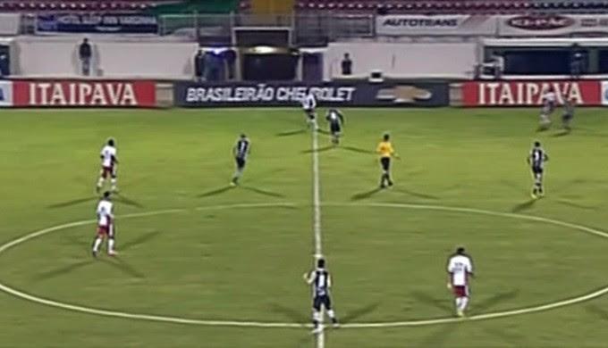 Boa Esporte e Ceará não saíram do 0 a 0 no Melão, em Varginha (MG) (Foto: Reprodução Premiere FC)
