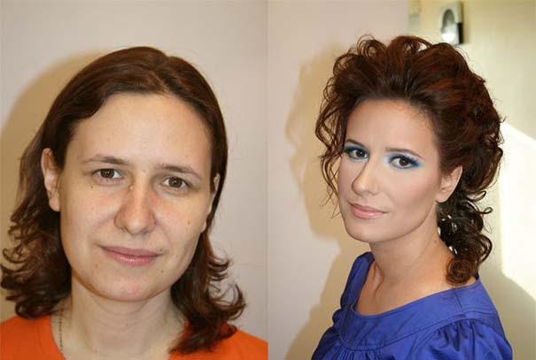Γυναίκες με / χωρίς μακιγιάζ (15)