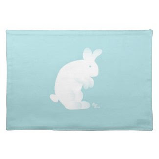 Blue Bunny Placemat mojo_placemat