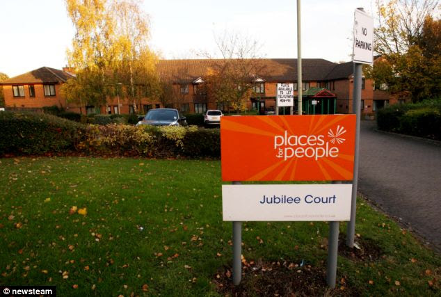 Restricted: Out of hours staff at Jubilee Court refused to give paramedics the code to access a master key. Eventually Mr Coombs was taken to hospital, but later died of a heart attack