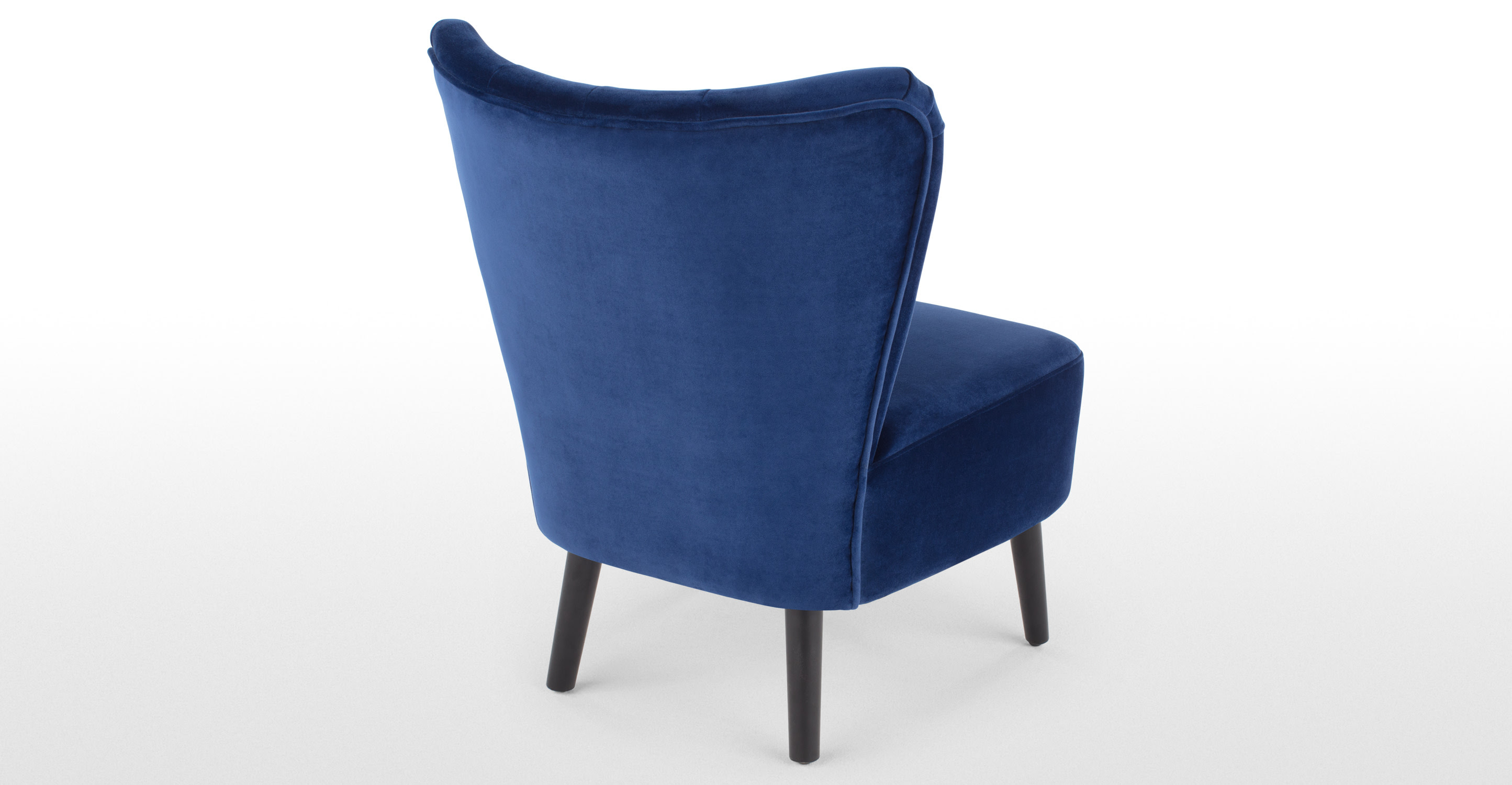 Charley Accent Chair, Electric Blue Velvet  made.com
