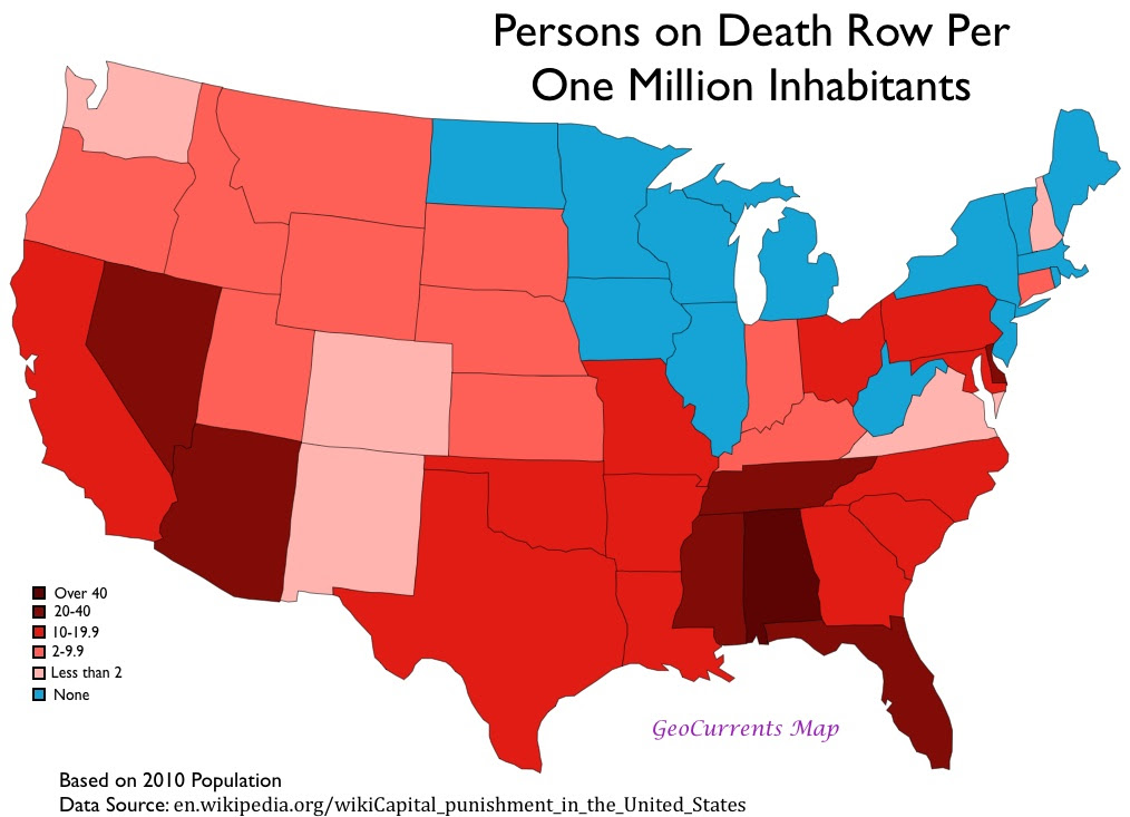 what states in the us have the death penalty