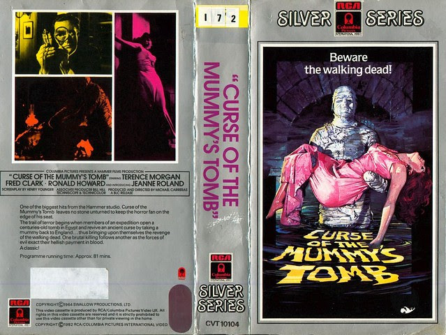 Curse Of The Mummy's Tomb (VHS Box Art)