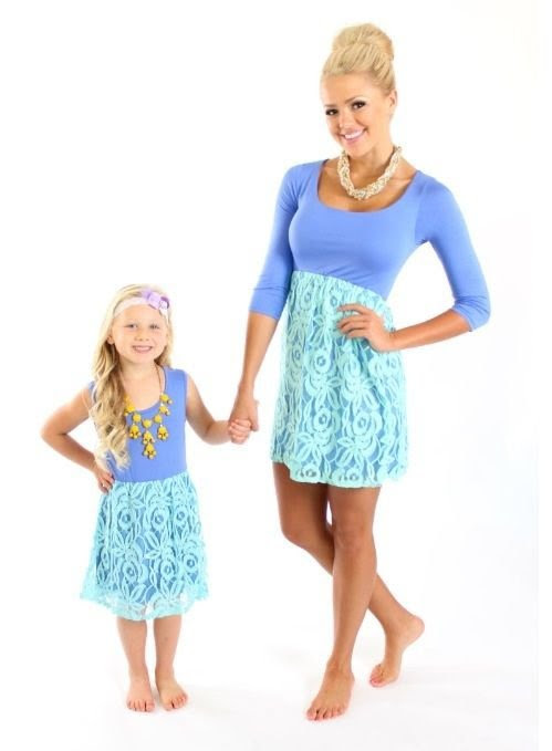 lace dress  23 stunning mother daughter outfits you can wear…