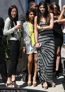 Kim Kardashian looks anxious at Vera Wang for her final