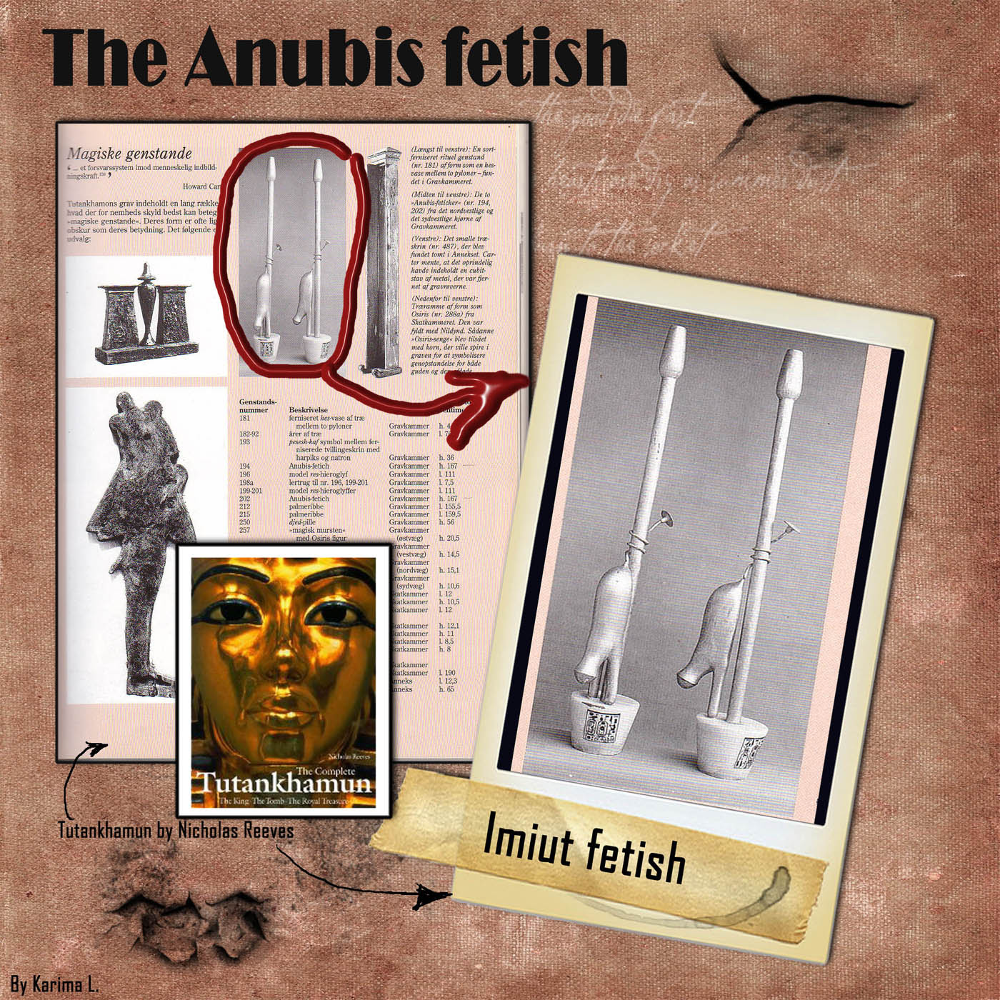 The Anubis Fetish objects found in tutankhamuns tomb