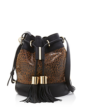 See by Chloé Vicki Leopard Print Bucket Bag